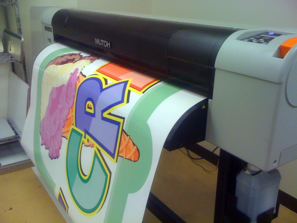 Sign Printing in Progress